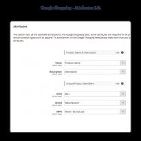 Koppel de basis waardes direct met het juiste product attribuut welke gebruikt moet worden in de Google Shopping Feed.